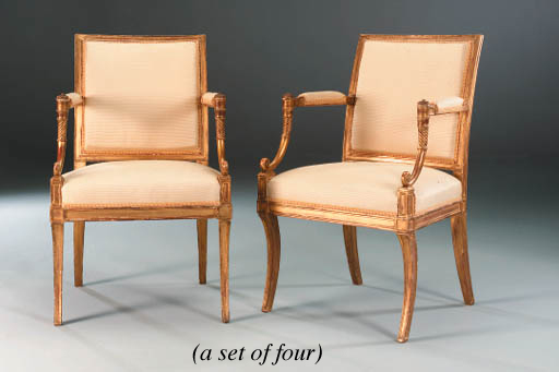 A SET OF FOUR GEORGE III GILTW