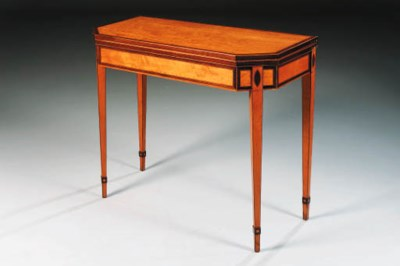 A GEORGE III SATINWOOD AND AMA