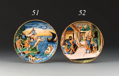 An Urbino istoriato dish