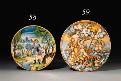 A Venice istoriato plate