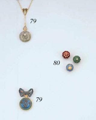 Three Diamond And Enamel Ball