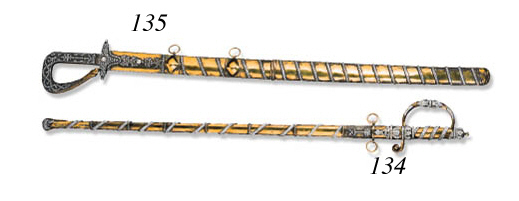 A Diamond-Set Ceremonial Sword