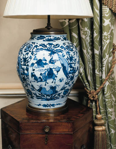 A LATE MING BLUE AND WHITE BAL
