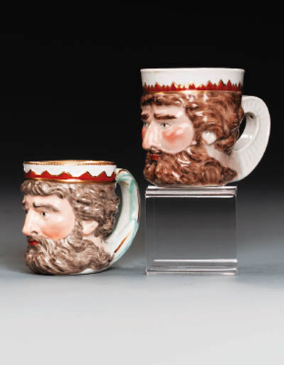 AN EXPORT 'NEPTUNE' MUG; AND A