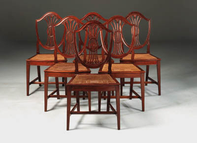 A SET OF SIX HUANGHUALI CHAIRS