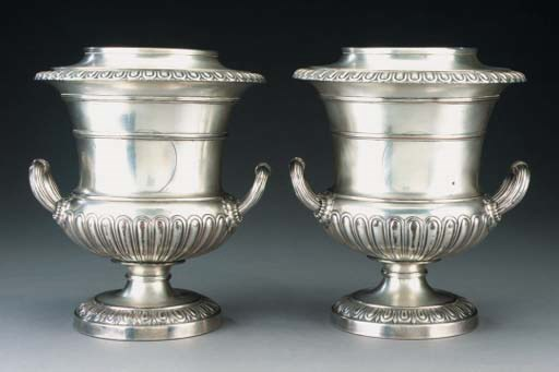 A PAIR OF GEORGE III OLD SHEFF