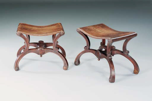 A PAIR OF ASH, OAK AND WALNUT
