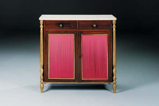 A REGENCY ROSEWOOD, SIMULATED-