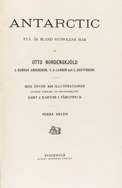 Swedish Antarctic Expedition, 1901-1903
