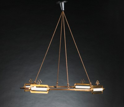 A large hanging chandelier