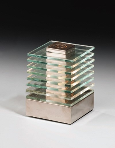 A Chromed Metal and Glass Tabl