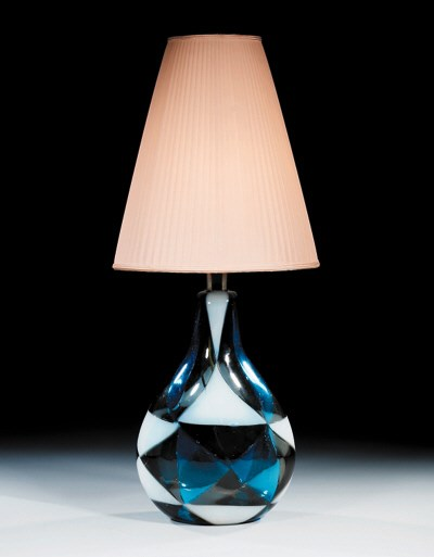 An 'Intarsio' Glass Table Lamp