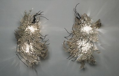 Two Wire and Glass Wall Sconce
