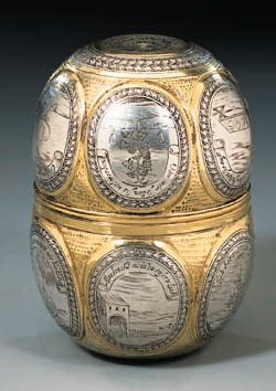A GERMAN PARCEL-GILT AND NIELL
