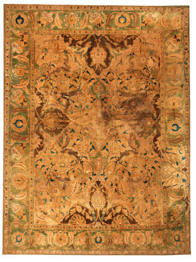 AN INCOMPLETE ISFAHAN SILK 'PO