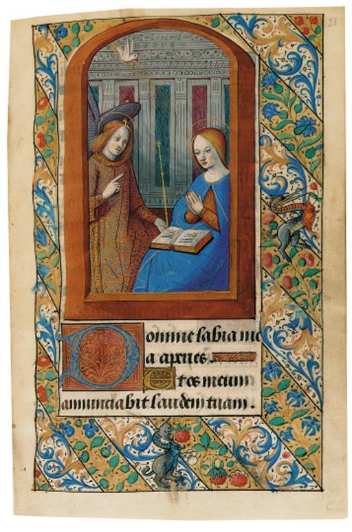 BOOK OF HOURS, use of Paris, in Latin, ILLUMINATED MANUSCRIPT ON VELLUM