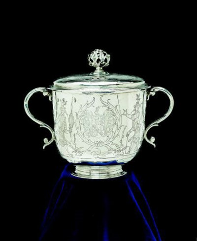 A James II silver porringer an