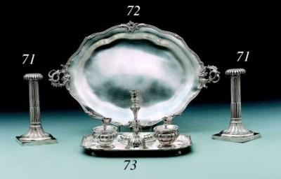 A German silver inkstand