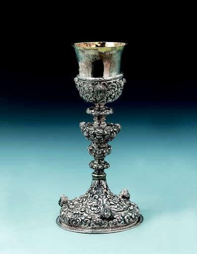 An Italian silver chalice