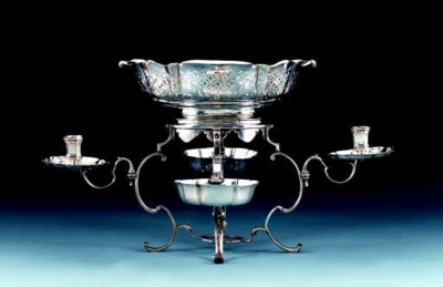 An Austrian silver epergne