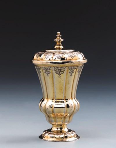 A German silver-gilt beaker an