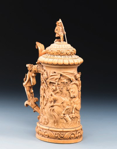 A French ivory tankard