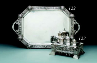 An Irish silver tray