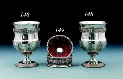 A pair of Victorian silver win