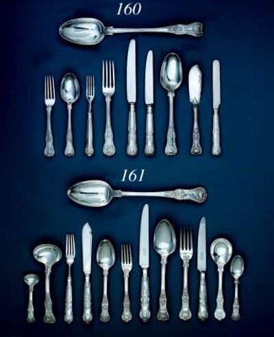 A William IV silver table-serv