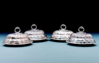 A set of four George III entré