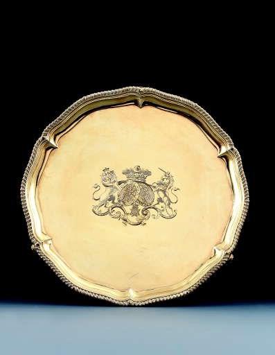 A George IV silver-gilt salver