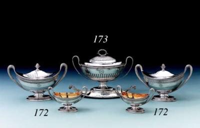 A George III silver sauce-ture