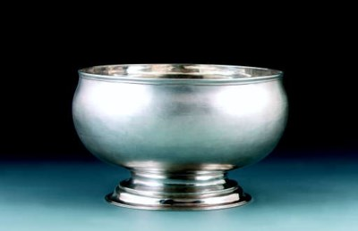 A George I silver punch bowl