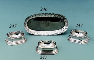 A George I silver spoon-tray