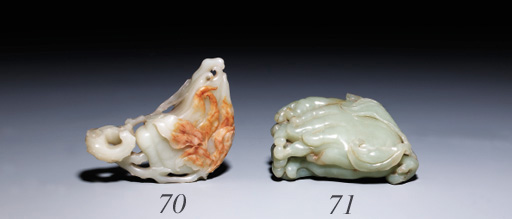 A PALE CELADON JADE BOX AND COVER