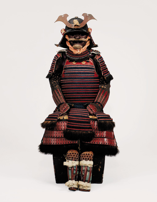 A RED-LACQUERED TACHI DO GUSOKU ARMOUR