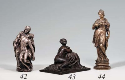 A SILVER GROUP OF THE PIETA