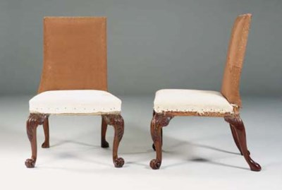 A PAIR OF GEORGE II MAHOGANY S