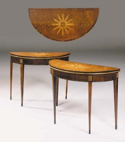 A PAIR OF GEORGE III SYCAMORE,