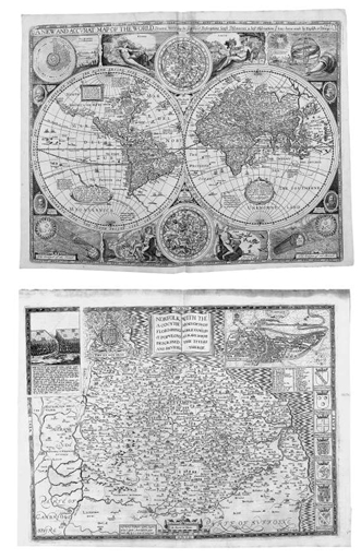 SPEED, John (1552-1629). The Theatre of the Empire of Great Britaine: Presenting an exact geography of the Kingdome of England, Scotland, Ireland, and the Isles adioyning. London: for George Humble at the Whit Horse in Popes Alley, 1650 - [1653]. [with]: A Prospect of The Most Famous Parts of the World. London: John Legatt for William Humble and are to be sold at his shop in Popes-Head Palace, 1646.