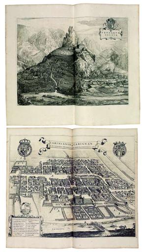 BLAEU, Joan (1596-1673). Theatrum Statuum Regiae Celsitudinis Sabaudiae Ducis, Pedemontii principis, ..pars prima, exhibens Pedemontium..pars altera illustrans Sabaudiam. Amsterdam, Heirs of Johannis Blaeu, 1682.