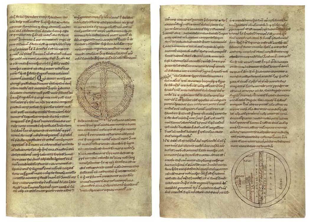 WILLIAM OF CONCHES (c.1080-c.1160). De philosophia mundi, in Latin, ILLUSTRATED MANUSCRIPT ON VELLUM