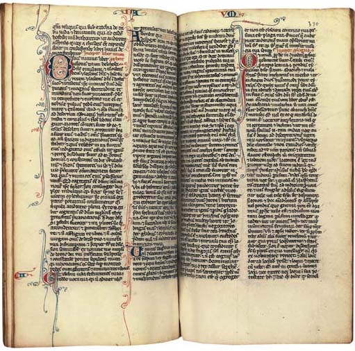 BIBLE with the Prologues attributed to St Jerome and Interpretation