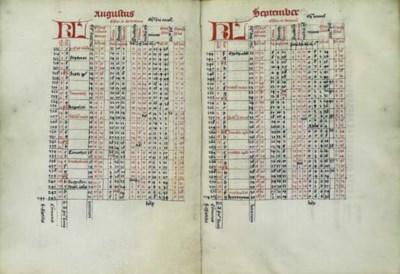 CALENDAR for 1490 with computa