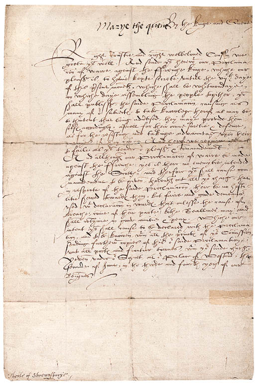 MARY I, Queen of England (1553