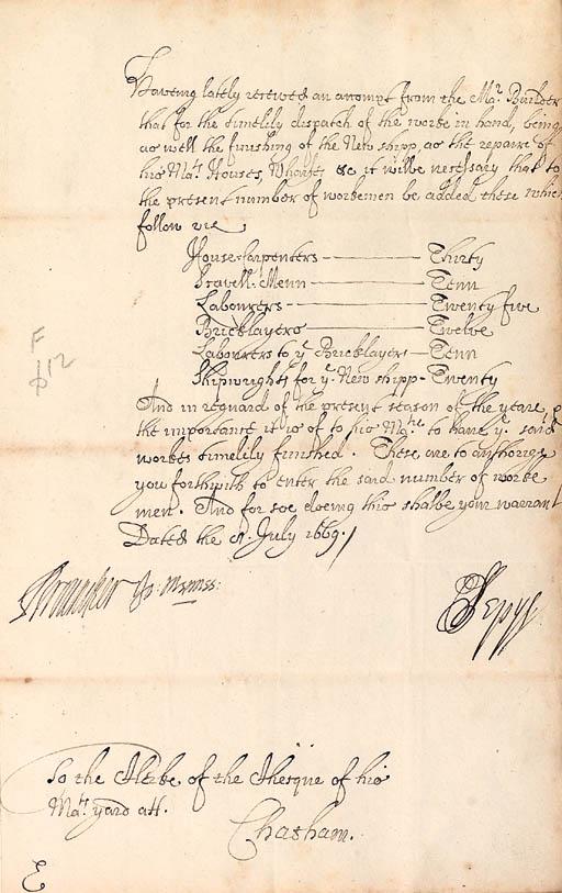 PEPYS, Samuel (1633-1703) and