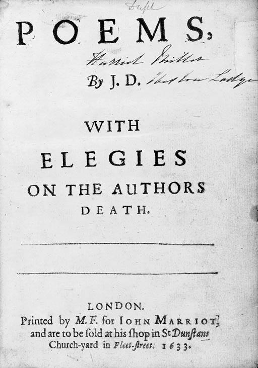 DONNE, John (1573-1631). Poems