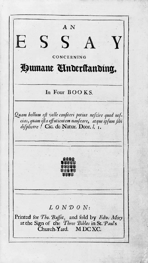 LOCKE, John (1632-1704). An Es