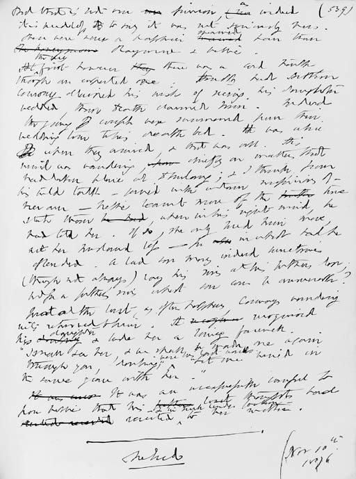 PAYN, James (1830-1898). Autog