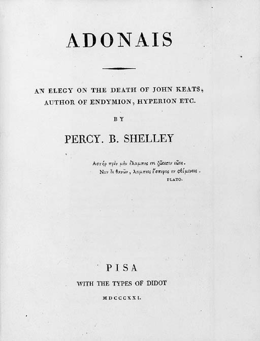 SHELLEY, Percy Bysshe (1792-18